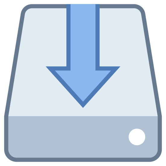 Software Installer icon. It's a logo of Software Installer reduced to an image of a hard disk with an arrow on top of it.  The installer can download any software that is needed to update the system.