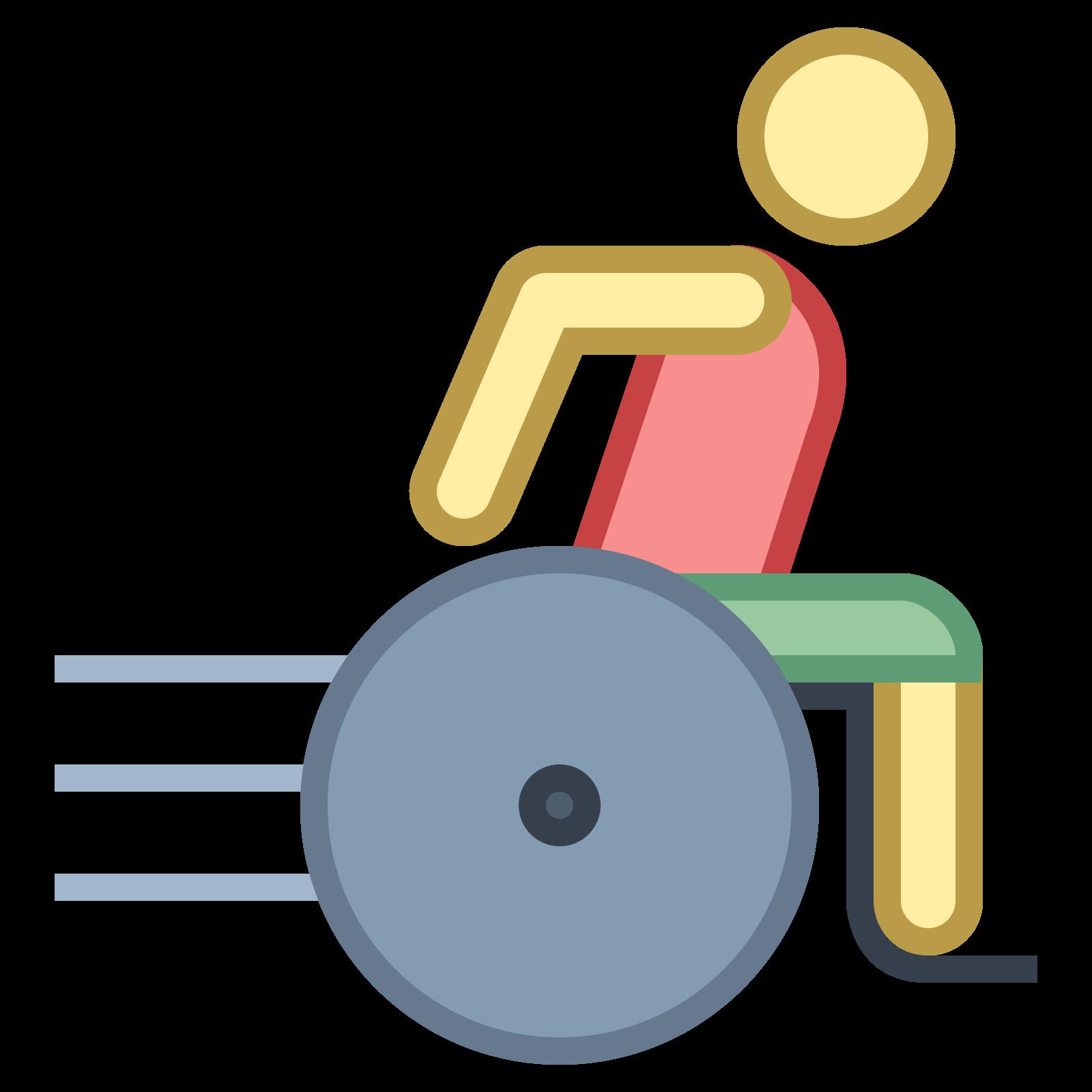 Użytkownik sportowego wózka inwalidzkiego icon