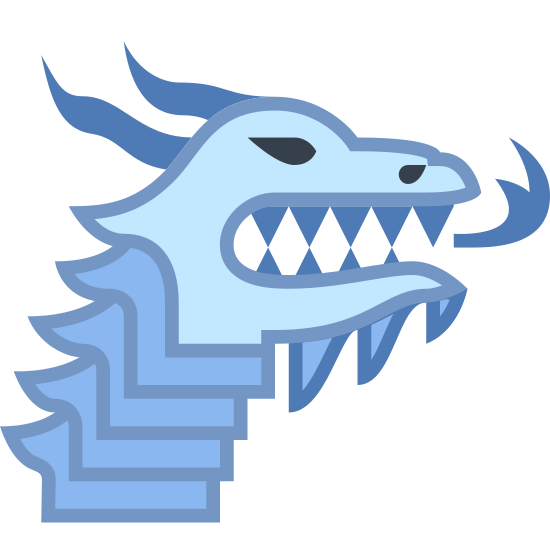 Targaryen House icon. There is a head of a dragon spitting fire and facing to the right, with his ears or horns flannted back. Its the image of the Targaryen House from game of thrones on HBO