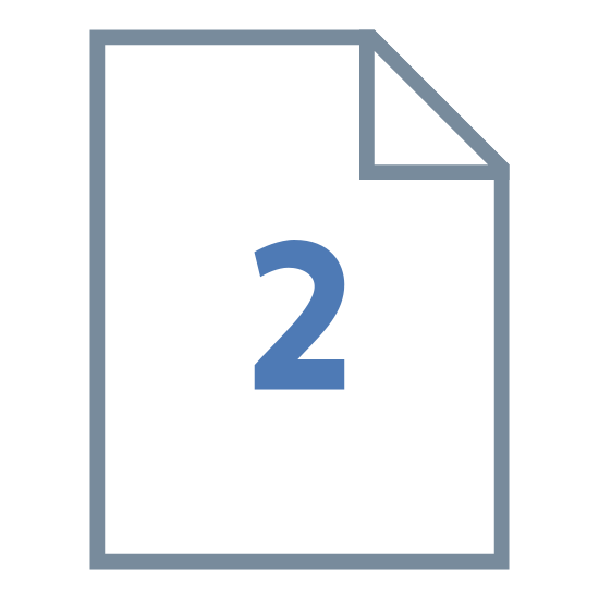 Deux pages icon