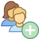 Add User Group Woman Man icon