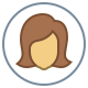 Circled User Female Skin Type 4 icon
