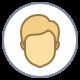 Circled User Male Skin Type 3 icon