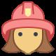 Feuerwehrmann-weiblich icon