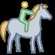 Montar a caballo icon