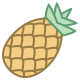 Pineapple Outline icon