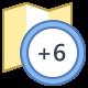 Zeitzone +6 icon