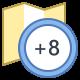Timezone +8 icon