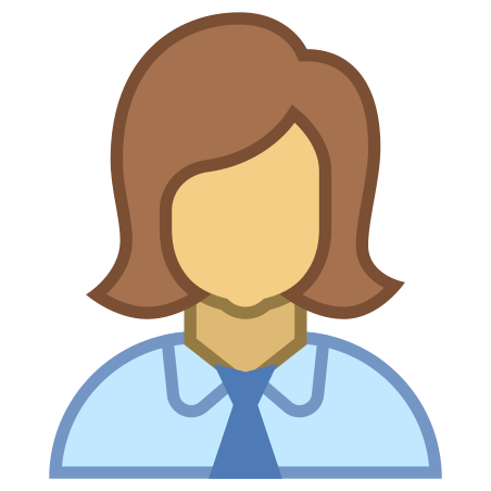 Woman Profile icon in Office