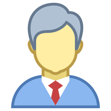 Businessman icon in Office