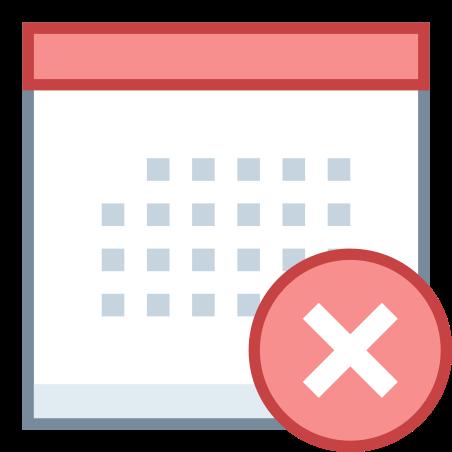 Calendar Delete icon