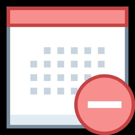 Calendar Minus icon