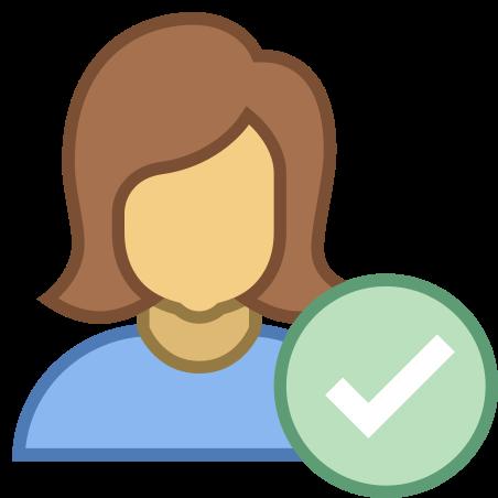 Checked User Female icon