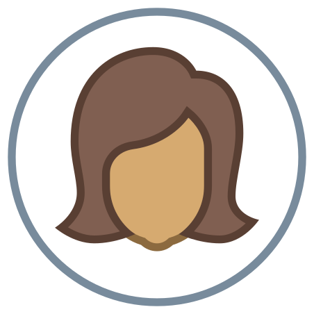 Circled User Female Skin Type 5 icon in Office