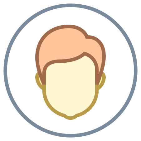 Circled User Male Skin Type 1 2 icon