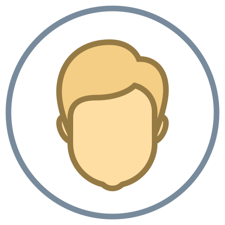 Circled User Male Skin Type 3 icon in Office