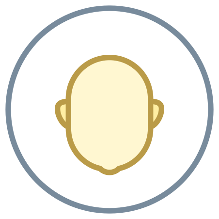 Circled User Neutral Skin Type 1 and 2 icon in Office