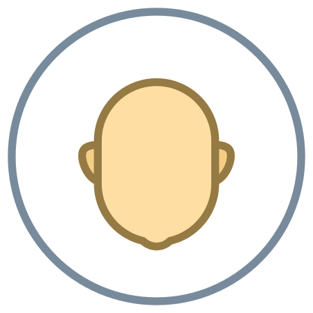 Circled User Neutral Skin Type 3 icon in Office