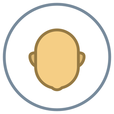 Circled User Neutral Skin Type 4 icon in Office
