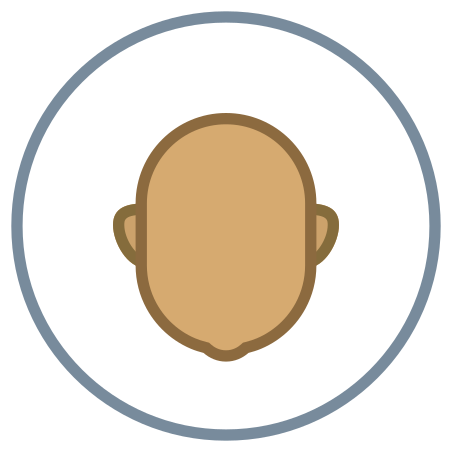 Circled User Neutral Skin Type 5 icon in Office