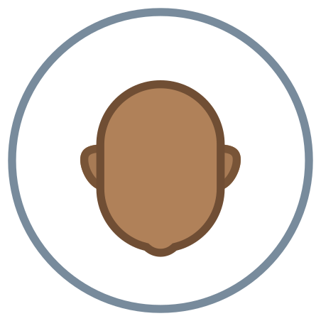 Circled User Neutral Skin Type 6 icon in Office