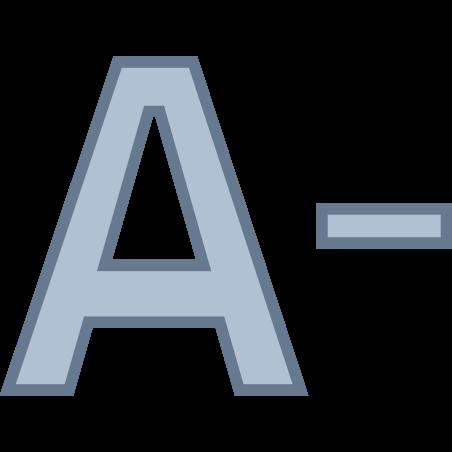 Decrease Font icon