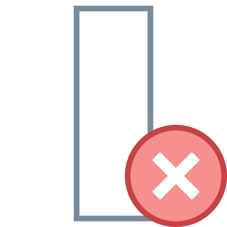 열 삭제 icon