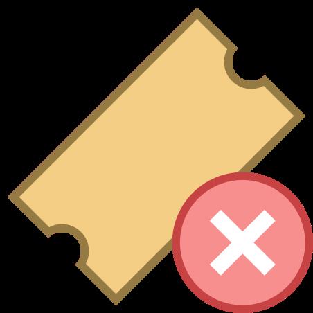 Delete Ticket icon