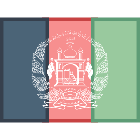 Flag of Afghanistan icon in Office