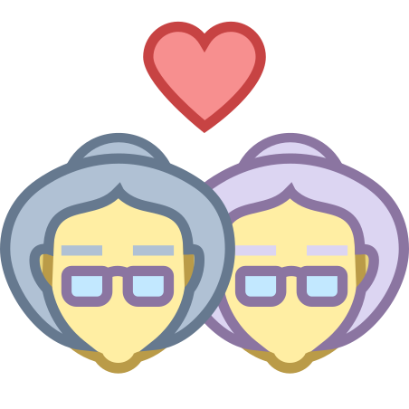 Granny Lesbian icon in Office