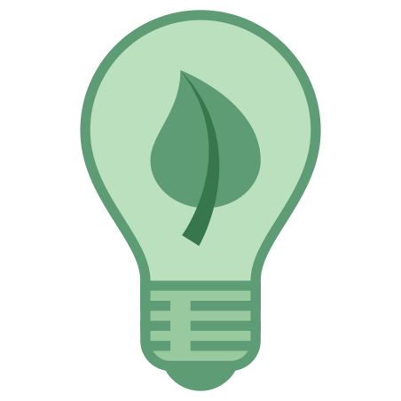 Greentech icon in Office