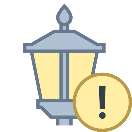 Lamp Post Error icon