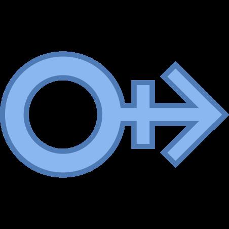 Male Stroke H icon in Office