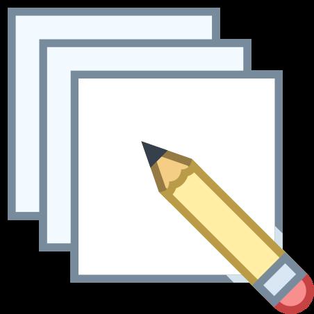 Edition multiple icon