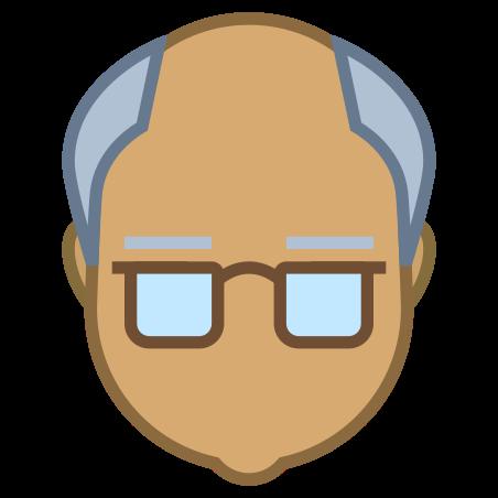 Senior Citizen icon in Office