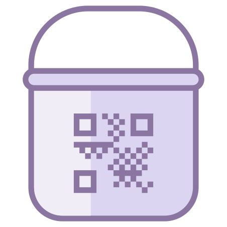 Paint Bucket With QR icon