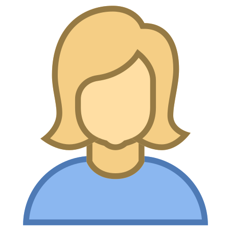 Person Female Skin Type 3 icon in Office