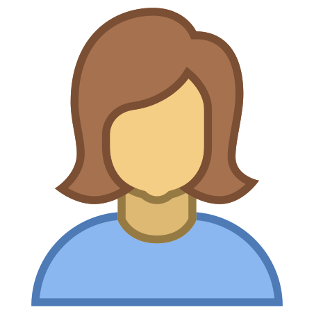 Person Female Skin Type 4 icon in Office
