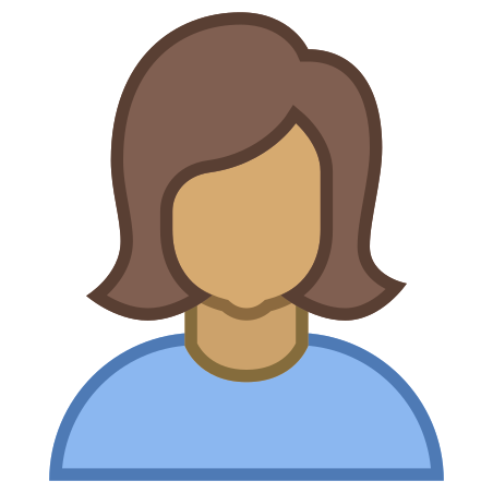 Person Female Skin Type 5 icon in Office