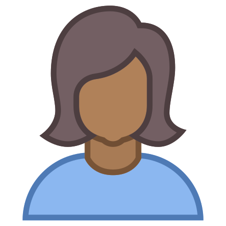 Person Female Skin Type 6 icon in Office