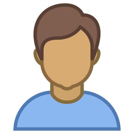 Person Male Skin Type 5 icon in Office