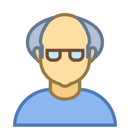 Person Old Male Skin Type 3 icon in Office