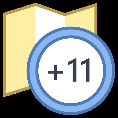 Timezone +11 icon
