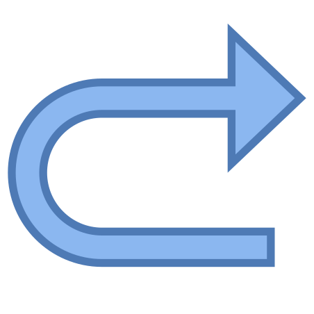 U Turn to Right icon
