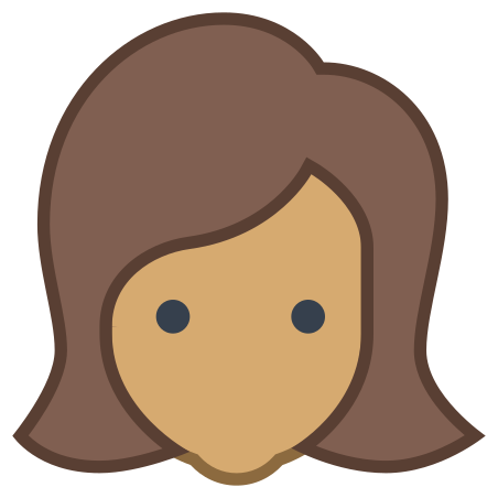 User Female Skin Type 5 icon in Office