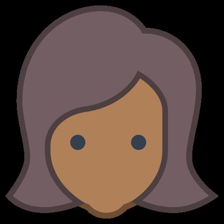 Benutzer Weiblich Hauttyp 6 icon