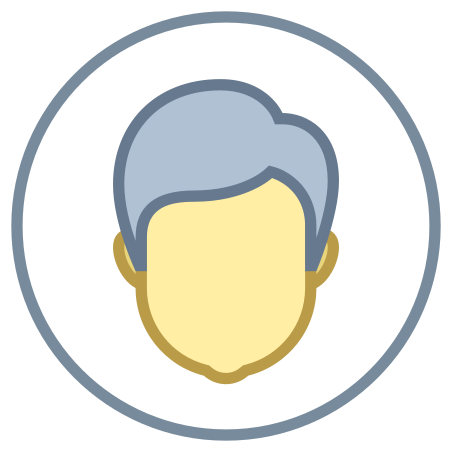 Male User icon in Office
