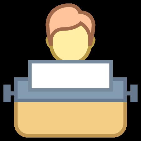 타자기를 사용하여 사용자 입력하면 icon in Office