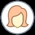Użytkownik Kobieta w kółku Skóra Typ 1 2 icon