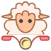 Owca na rowerze icon